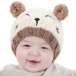 Other - Soft Baby Bear Chenille Beanie Hat 1-3 Years